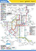 Схема общественного транспорт Кошице, Словакия