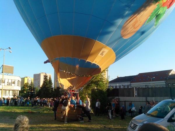 фото воздушного шара на старте