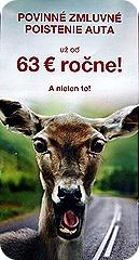 фото смешного оленя на дороге