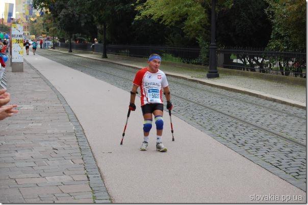 фото инвалида - участника кошицкого марафона