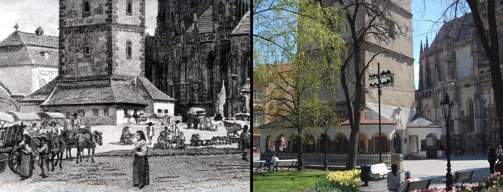 фото башни Св. Урбана сейчас и в середине 19 века