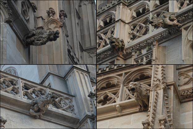 гаргульи на каталическом костеле