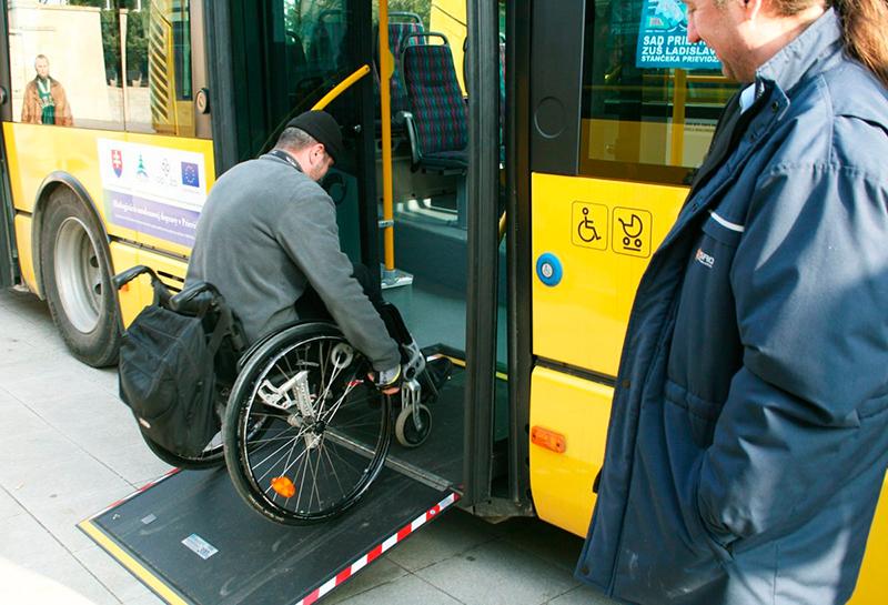 фото въезд для инвалидов в автобус
