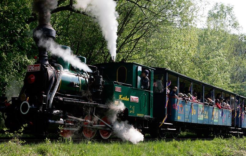 Детская железная дорога в Кошице