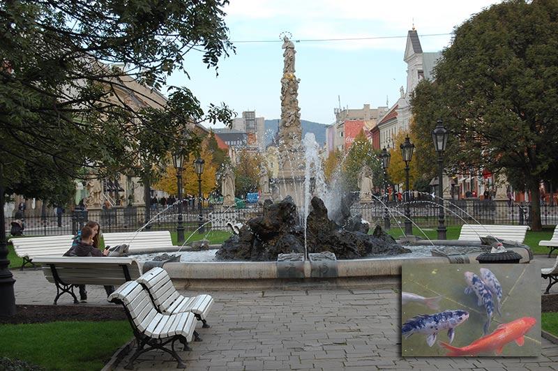 Фонтан со знаками Зодиака в Кошице