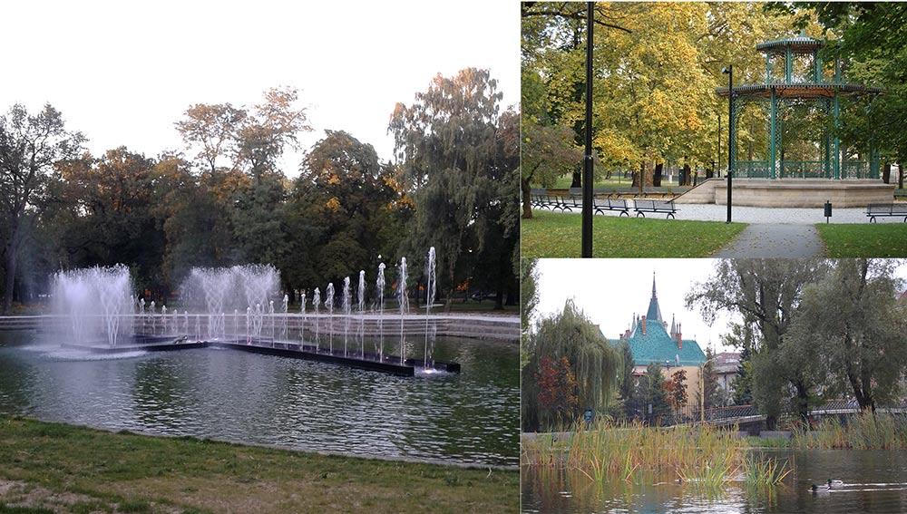 Городской парк в Кошице
