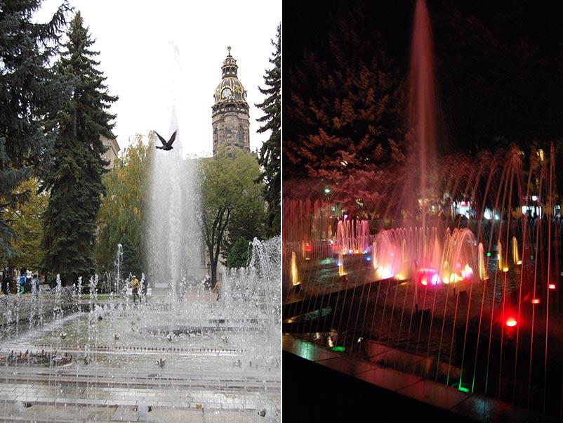 Поющий фонтан в Кошице