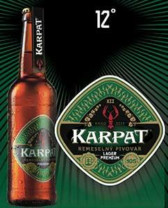 Лучшее пиво в Словакии - KARPAT Lager Premium 12 %
