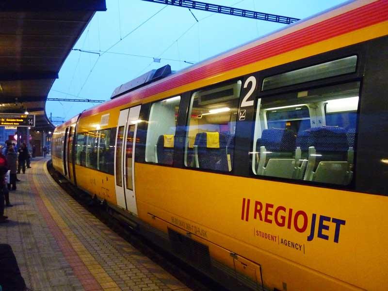 Современный поезд RegioJet