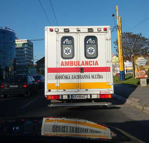 Скорая помощь в Словакии