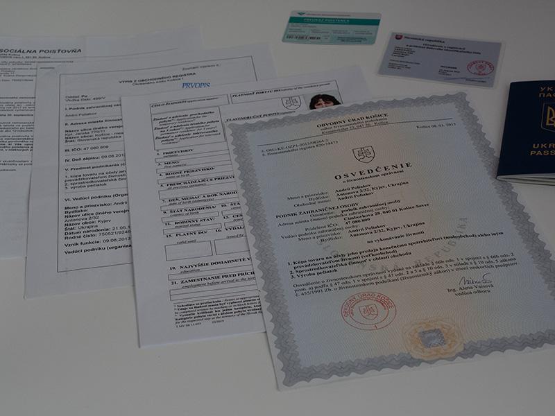 Документы в полицию для ВНЖ в Словакии 2020