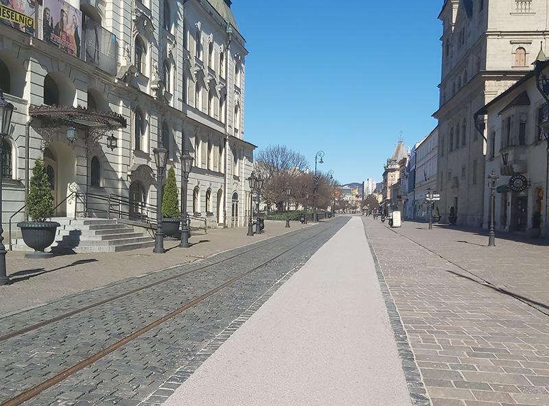 Коронавирус в Словакии - пустой город